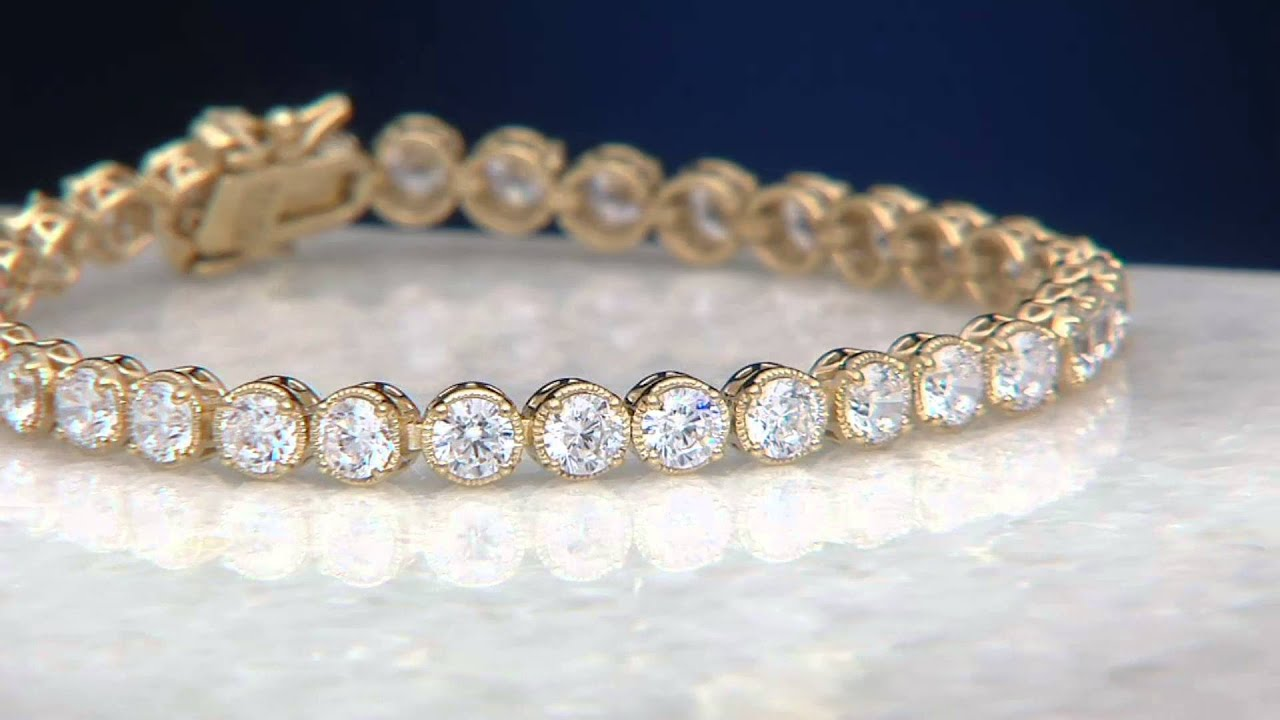 Diamonique Textured Tennis Bracelet Sterling Or 14k Clad On Qvc