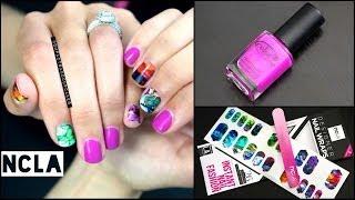 ♡Nail Wrap Tutorial - NCLA & Color Club♡ Thumbnail
