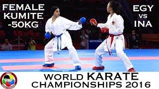 BRONZE MEDAL. Female Kumite -50kg. SAYED (EGY) vs SRUNITA (INA). 2016 World Karate Championships