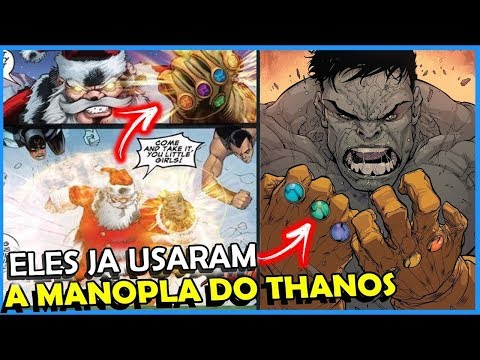 5 PERSONAGENS BIZARROS QUE JA USARAM A MANOPLA DO INFINITO