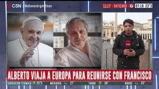 Alberto viaja a Europa para reunirse con Francisco: móvil de Adrián Salonia en el Vaticano