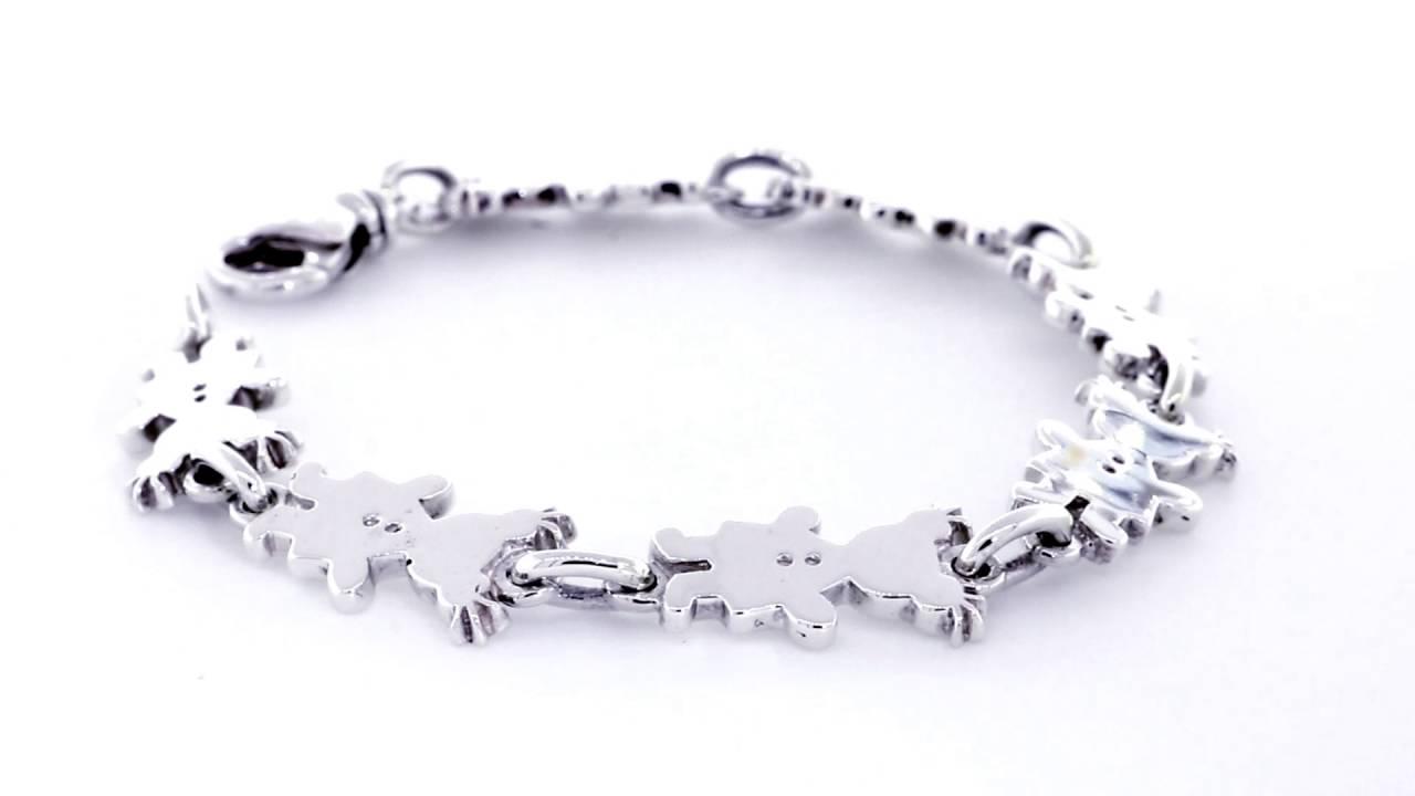 BRZ2772G7W1 Sziro Jewelry Sziro Girl Sterling Silver Bracelet