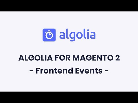 Algolia for Magento 2 | Frontend Events