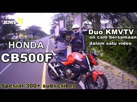 MotoVlog #24 - Nunggangin Dan Sedikit Ngebahas Honda CB500F | Duo KMVTV Nongol Bersamaan