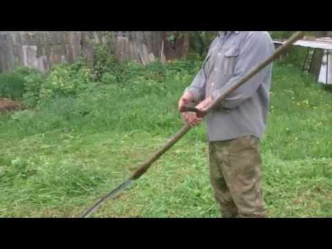 Как заточить ручную косу видео