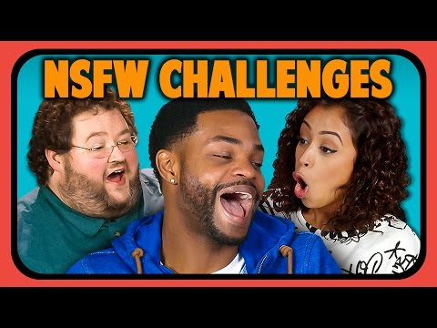 Thumbnail: YOUTUBERS REACT TO NSFW CHALLENGES (one finger selfie, grey sweatpants, dickliner)