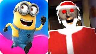 Despicable Me Minion Rush vs Christmas Granny Santa Claus