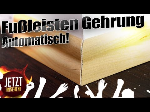 automatisch leisten auf gehrung s gen youtube. Black Bedroom Furniture Sets. Home Design Ideas