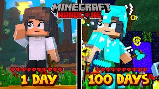 i Survived 100 Days in HARDCORE Minecraft. maybe..