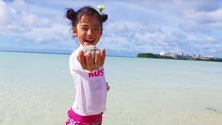 冬休み旅行で行ったグアムの海で初めてのパラセイリングに挑戦しました...