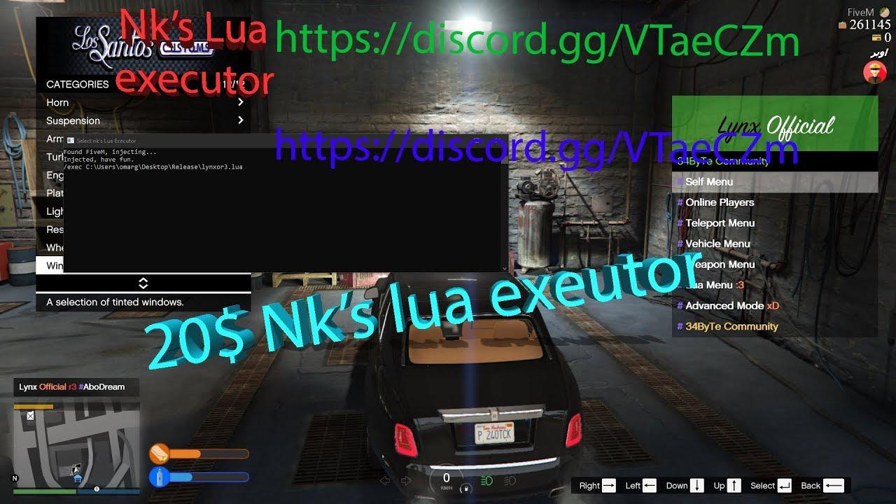 Nk's Lua Executor Fivem Best executor (Roleplay Servers)  https://discord gg/VTaeCZm