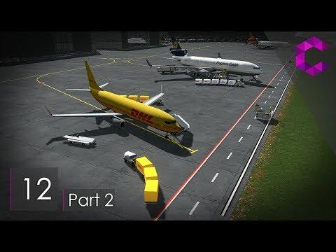 Cities Skylines: Pinewood — Ep 12 Pt 2 — Airport Cargo Terminal & Heliport
