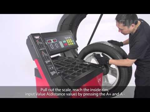 Unite UB-1100 Wheel Balancer Final Cut Installation Operation(0728)