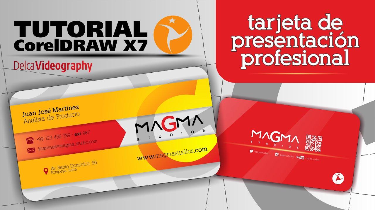 "INTERMEDIO TUTORIAL 12 Corel Draw X7 TARJETA DE PRESENTACI""N"