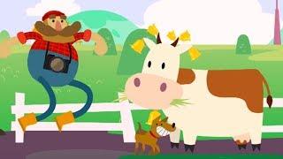 Развивающий мультфильм для детей – Мы идем по лесу – все серии про ферму – учим домашних животных