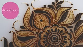 Arabic henna design doodle| Henna tutorials, classes and lessons by Devaky S Dharan