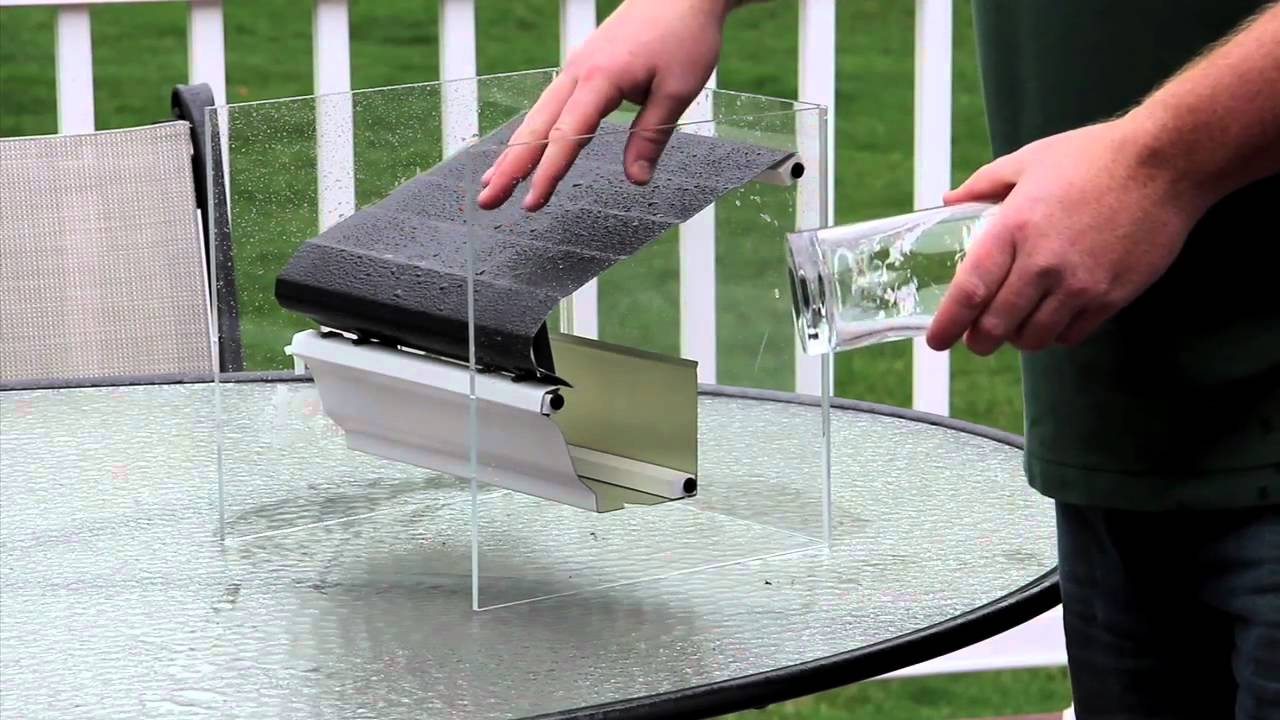 Gutters Gutter Helmet And Surface Tension Youtube
