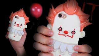 DIY PENNYWISE (IT) Inspired PHONE CASE! - How to make a Silicone Phone Case!