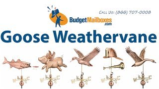 Budgetmailboxes.com | Good Directions 9663p Goose Weathervane - Polished Copper