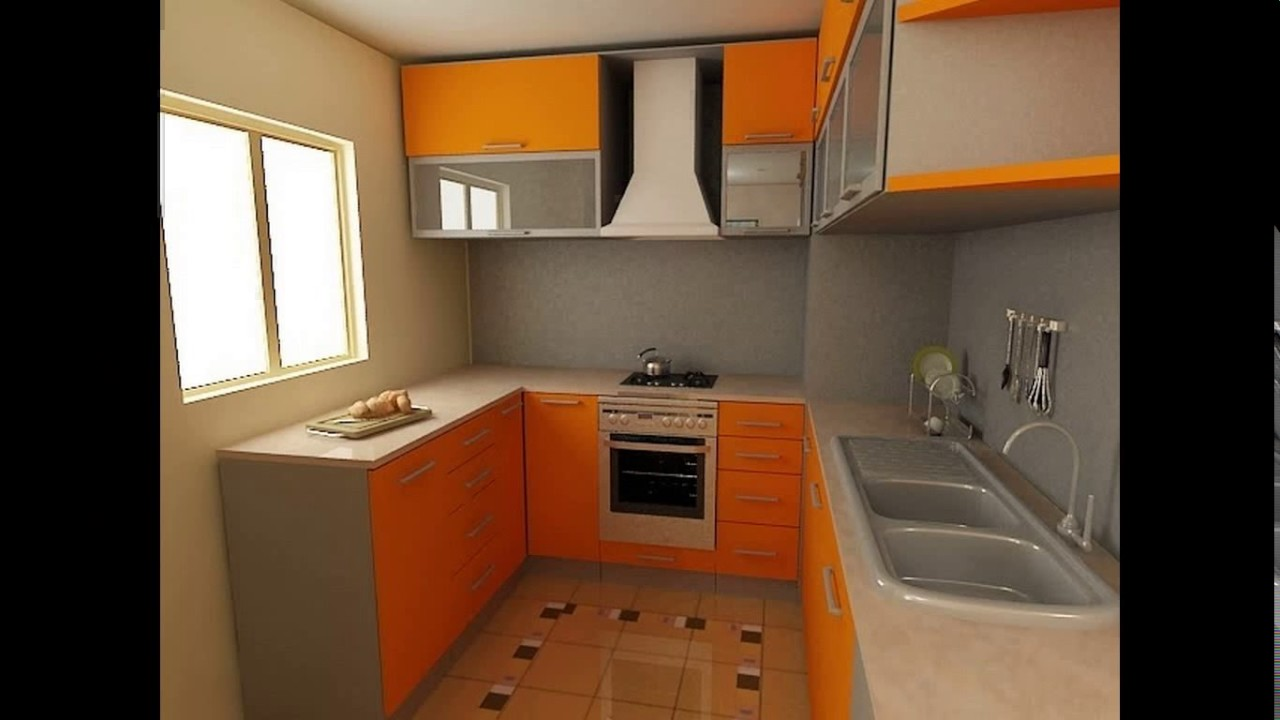 Indian small kitchen design photos youtube for Small indian kitchen design