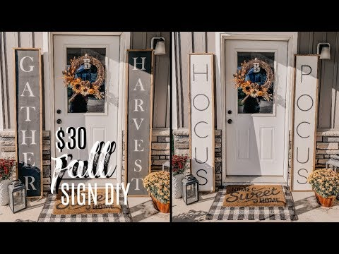 DIY FALL AND HALLOWEEN PORCH SIGN TUTORIAL