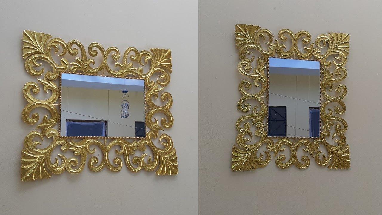Espejo vintage dorado marca
