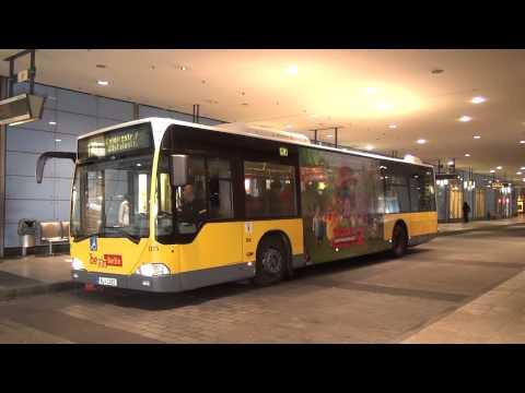 Busse In Berlin Steglitz Haltestelle Kreisel - BVG Citaro MAN Volvo [1080p]