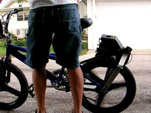 Chainsaw Powered Bmx Bicycle Youtube
