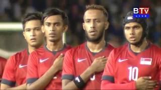 BTVNews  Cambodia Vs Singapore CLEAR International Friendly Match 28 07 2016 National Stad