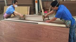 زيارة مصنع أبواب في الصين و طريقة صناعة أبواب MDF & HDF