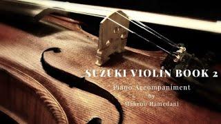 Suzuki Violin book 2, piano accompaniment, Bourrèe