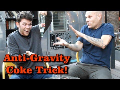 Anti Gravity Coke Bottle Trick