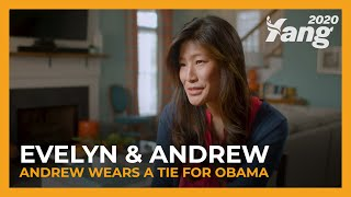 Andrew Wears a Tie for Obama