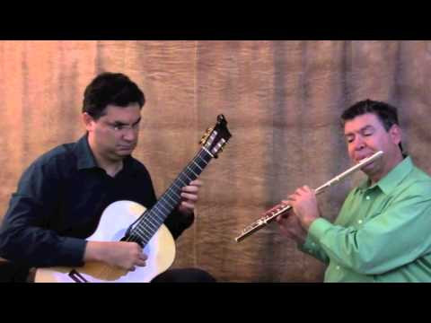 Karougna Greek Dance performed by Takes Two Guitar and Flute Duo
