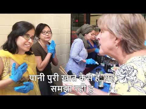 American eating Pani