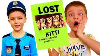Андрей и история как пропали маленькая и котенок - два маленьких друга