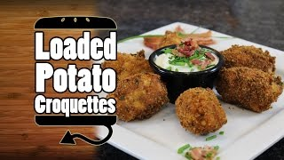Loaded Mashed Potato Croquettes Recipe - Hellthyjunkfood