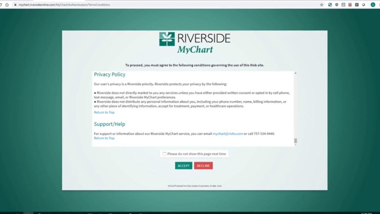 Riverside Medical Group Mychart
