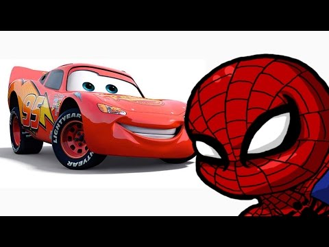 Lightning McQueen and the amazing Spider Man in the GTA