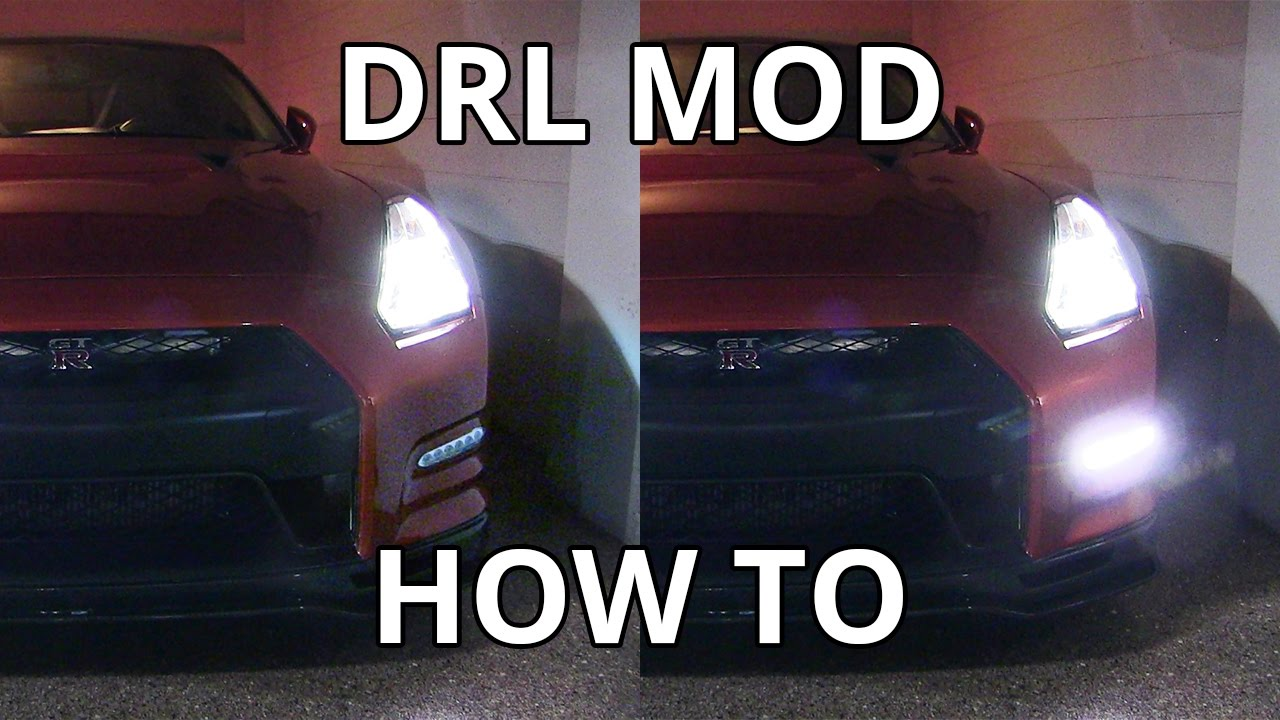 how to daytime running lights drl mod on nissan gtr [ 1280 x 720 Pixel ]