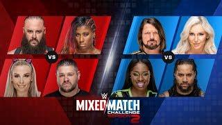 WWE 2K18 Mix Match Challenge Week 1 Charlotte AJ styles Vs Naomi Jimmy Uso