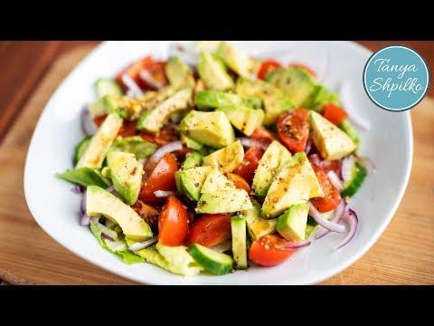 Простой Овощной Салат с Авокадо | Avocado Salad | Tanya Shpilko