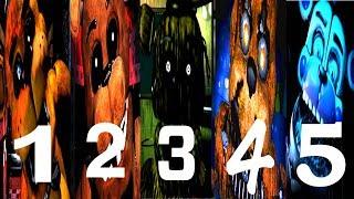 FNAF 1, 2, 3, 4, 5 Freddy Simulator Video