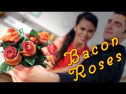 Don't Order Last-Minute Flowers: Make Chocolate-Dipped Bacon Roses