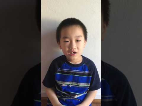6 year old David reciting traditional Chinese poem MinNong in standard Mandarin 6岁David背诵悯农