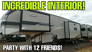 HUGE Party Fifth Wheel RV with an incredible interior! Coachmen Chaparral 381RD