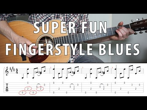 Super Fun Fingerstyle BLUES You Should Know  TABS