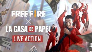 ¡LIVE ACTION: FREE FIRE x LA CASA DE PAPEL! 💥 | Garena Free Fire