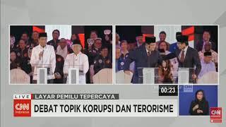 LUCUNYA PAK  PRABOWO JOGET  SANDIAGA MIJIT di Debat Perdana Capres 2019