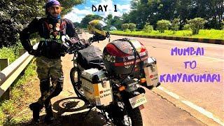 DAY 1 : Mumbai To Kanyakumari Ride 2019 | Hubali | 600km | Royal Enfield Himalayan BS4